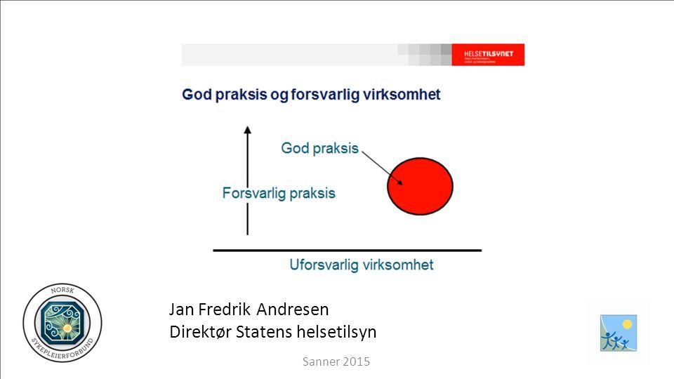 Jan Fredrik Andresen Direktør Statens helsetilsyn Sanner 2015
