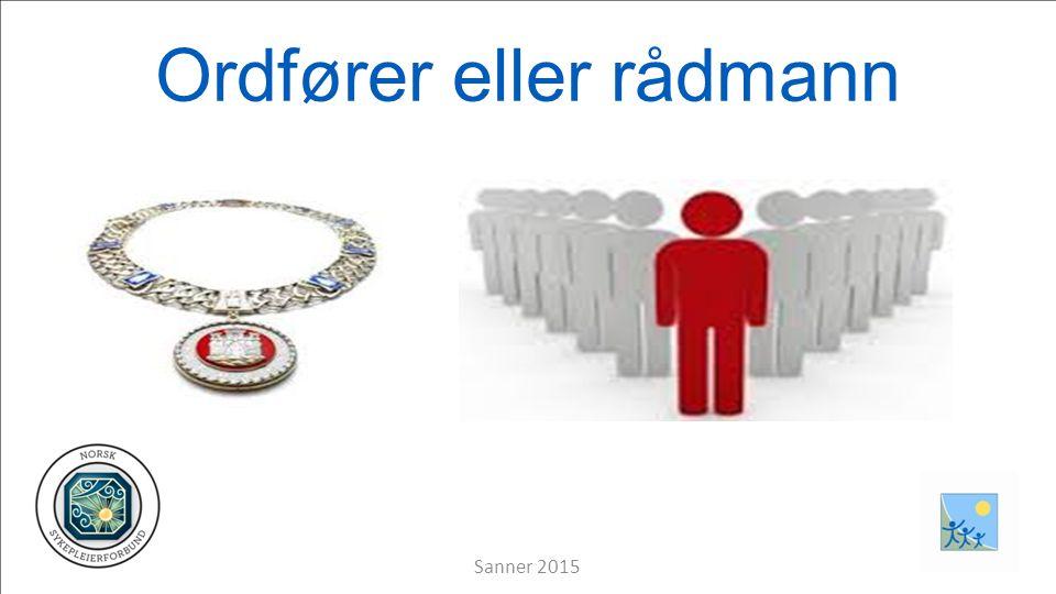Ordfører eller rådmann Sanner 2015