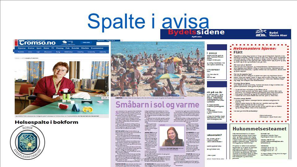 Spalte i avisa Sanner 2015