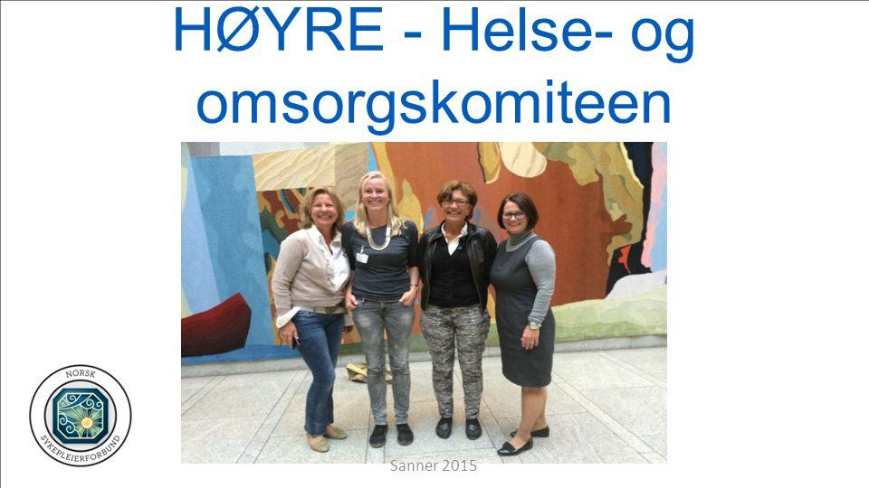 HØYRE - Helse- og omsorgskomiteen Sanner 2015