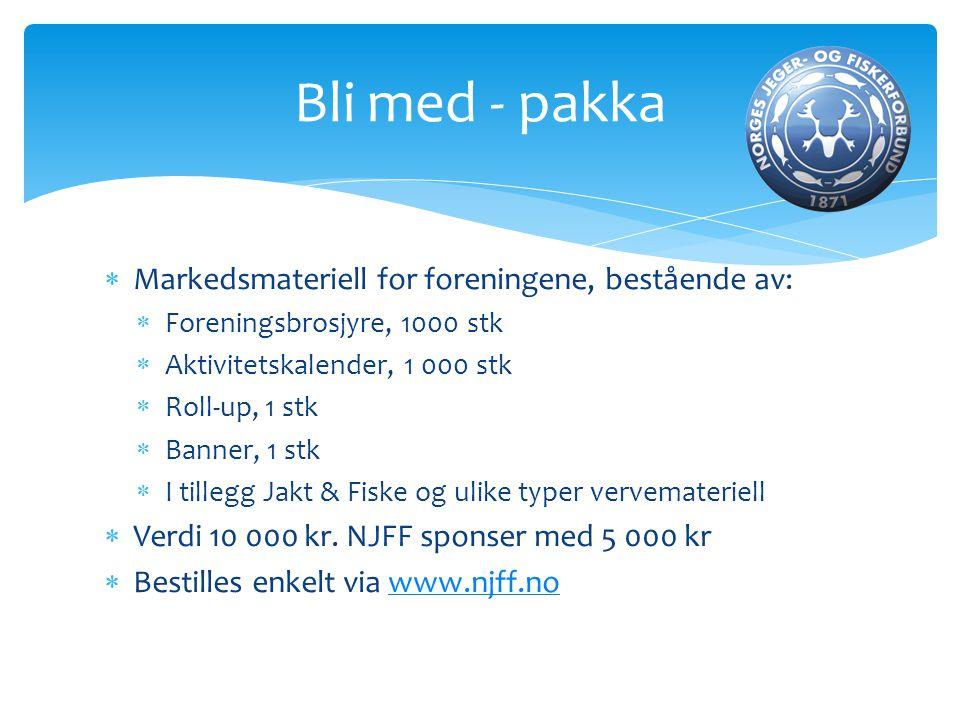  Markedsmateriell for foreningene, bestående av:  Foreningsbrosjyre, 1000 stk  Aktivitetskalender, 1 000 stk  Roll-up, 1 stk  Banner, 1 stk  I t