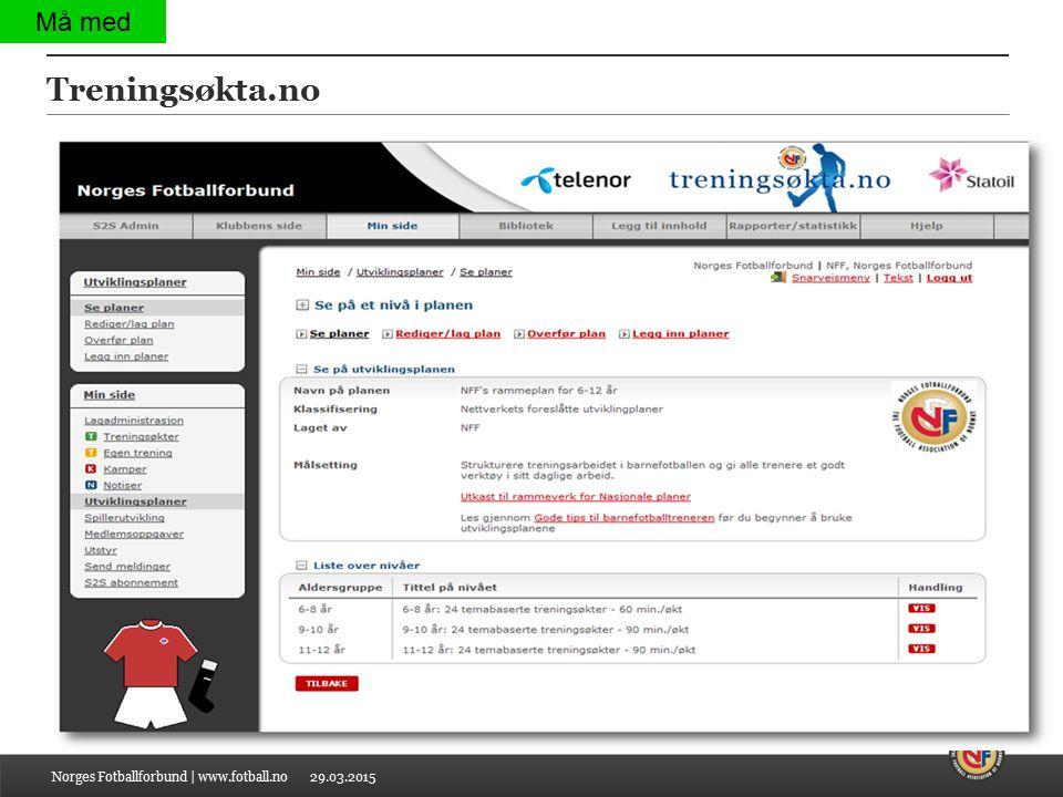 29.03.2015 Treningsøkta.no Norges Fotballforbund | www.fotball.no Må med