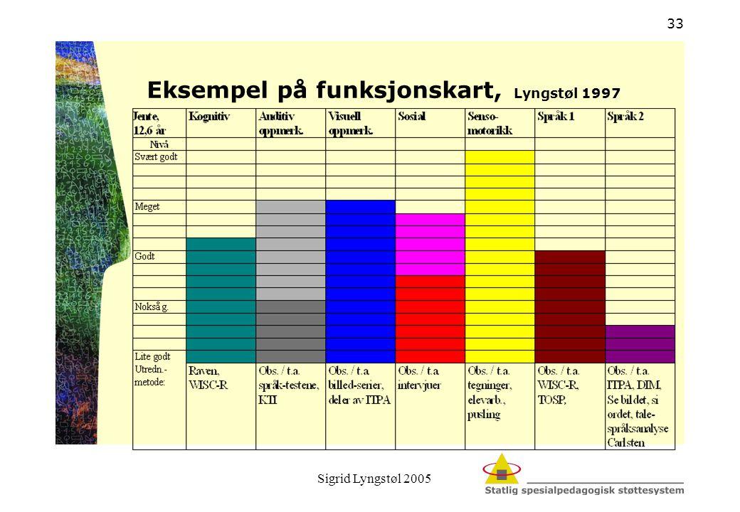 Sigrid Lyngstøl 2005 33 Eksempel på funksjonskart, Lyngstøl 1997
