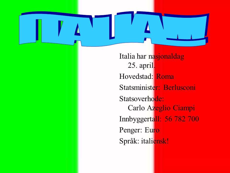 Italia har nasjonaldag 25.april.