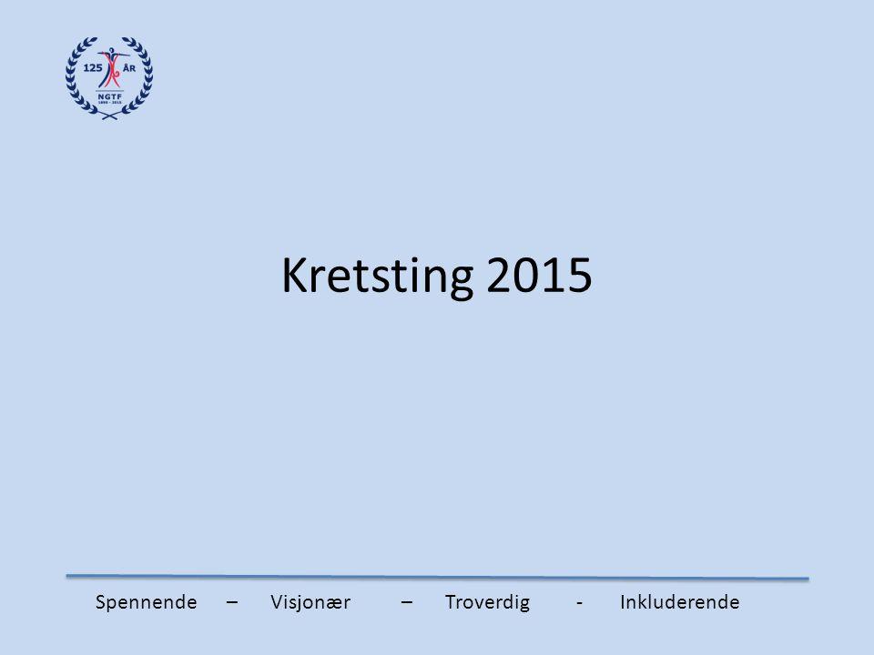 Kretsting 2015 Spennende – Visjonær – Troverdig - Inkluderende