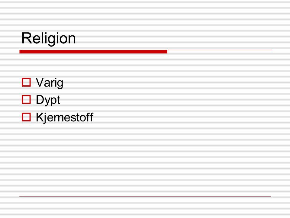 Religion  Varig  Dypt  Kjernestoff