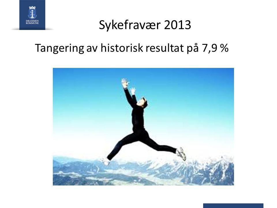 Sykefravær 2013 Tangering av historisk resultat på 7,9 %