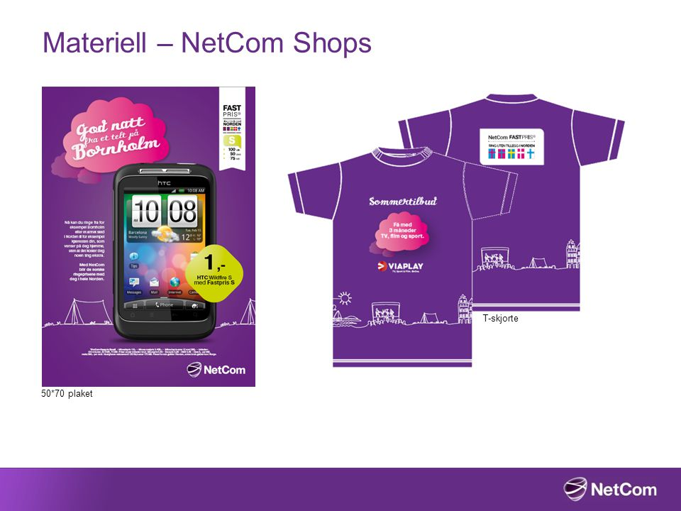 Materiell – NetCom Shops T-skjorte 50*70 plaket