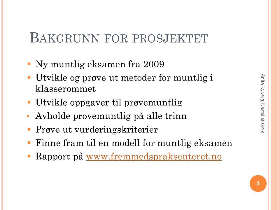 K LASSEROMSRUTINER 4 Anita Nyberg, Kastellet skole