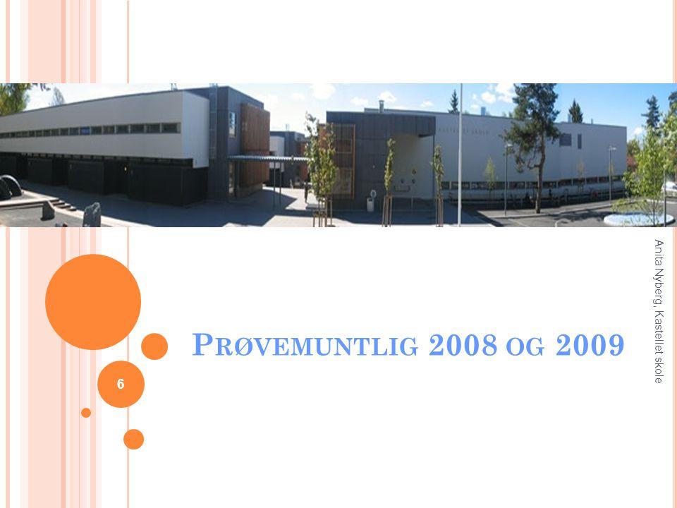 P RØVEMUNTLIG 2008 OG 2009 6 Anita Nyberg, Kastellet skole