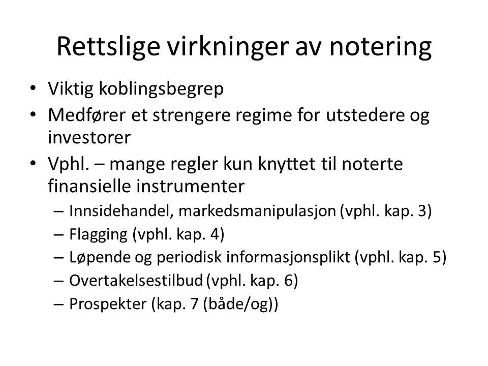 Opptaksregler obligasjoner Oslo Børs Størrelsen av lånet minst 2 mill.