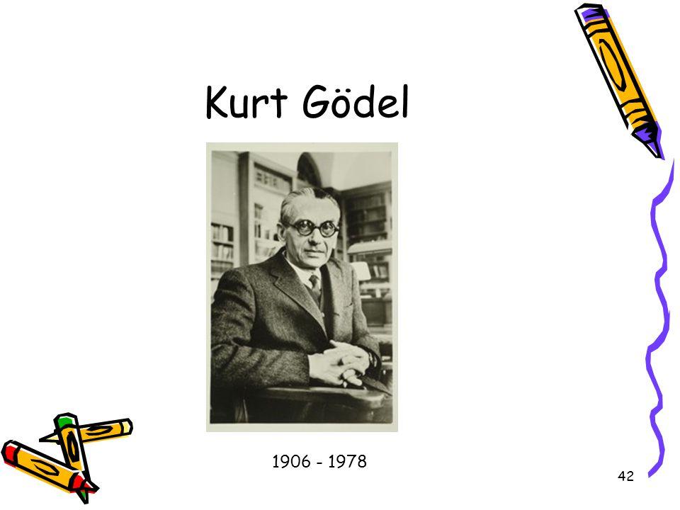 42 Kurt Gödel 1906 - 1978