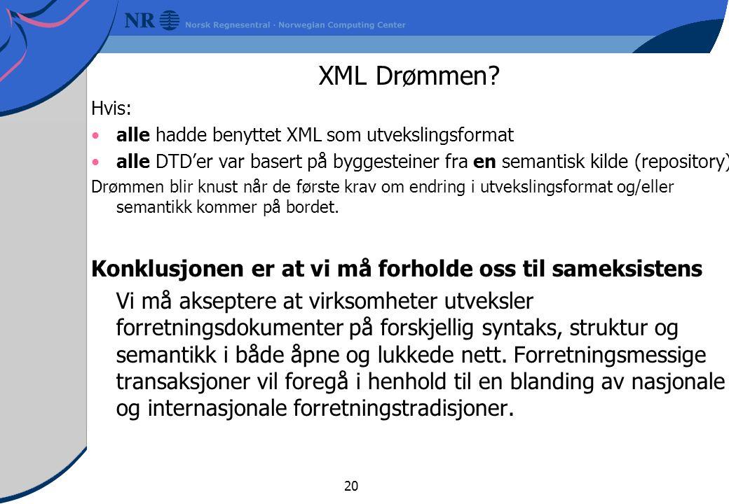 20 XML Drømmen.
