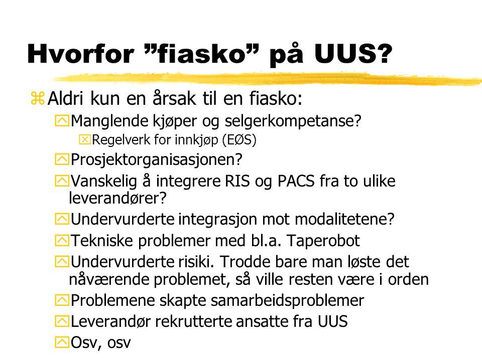 Hvorfor fiasko på UUS. zAldri kun en årsak til en fiasko: yManglende kjøper og selgerkompetanse.