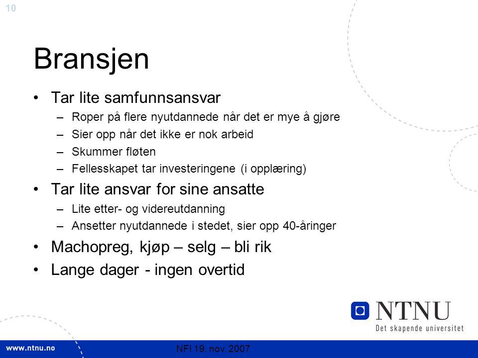 10 NFI 19. nov.