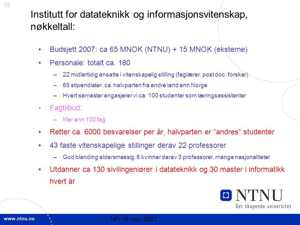 15 NFI 19. nov.