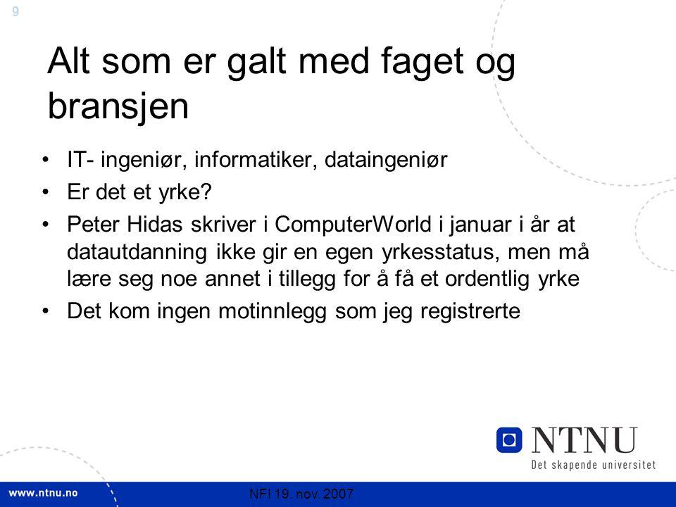 9 NFI 19. nov.