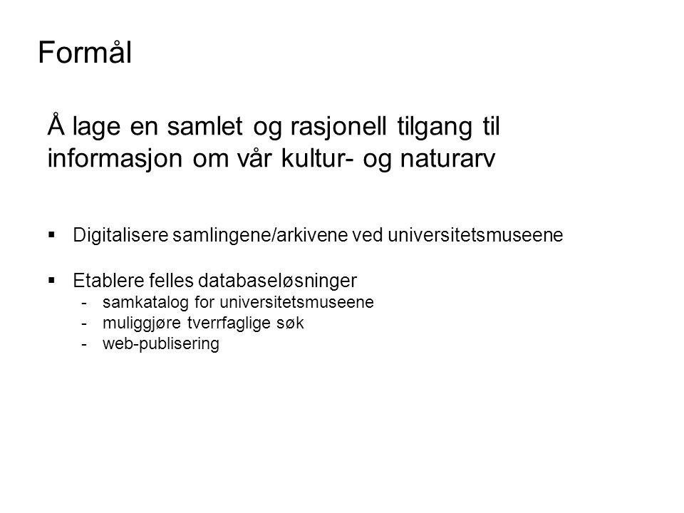 Organisasjon -historie Februar 1997: Initiativ tatt at dekanene Hodne (HF) og Kanestrøm (MN), begge Universitet i Oslo Juni 1997: Søknad sendt KUF fra UIO på vegne av de fire universitets- direktørene om 5 årig prosjekt som fortsettelse av UNADOK og Dokumentasjonsprosjektet (DOK).