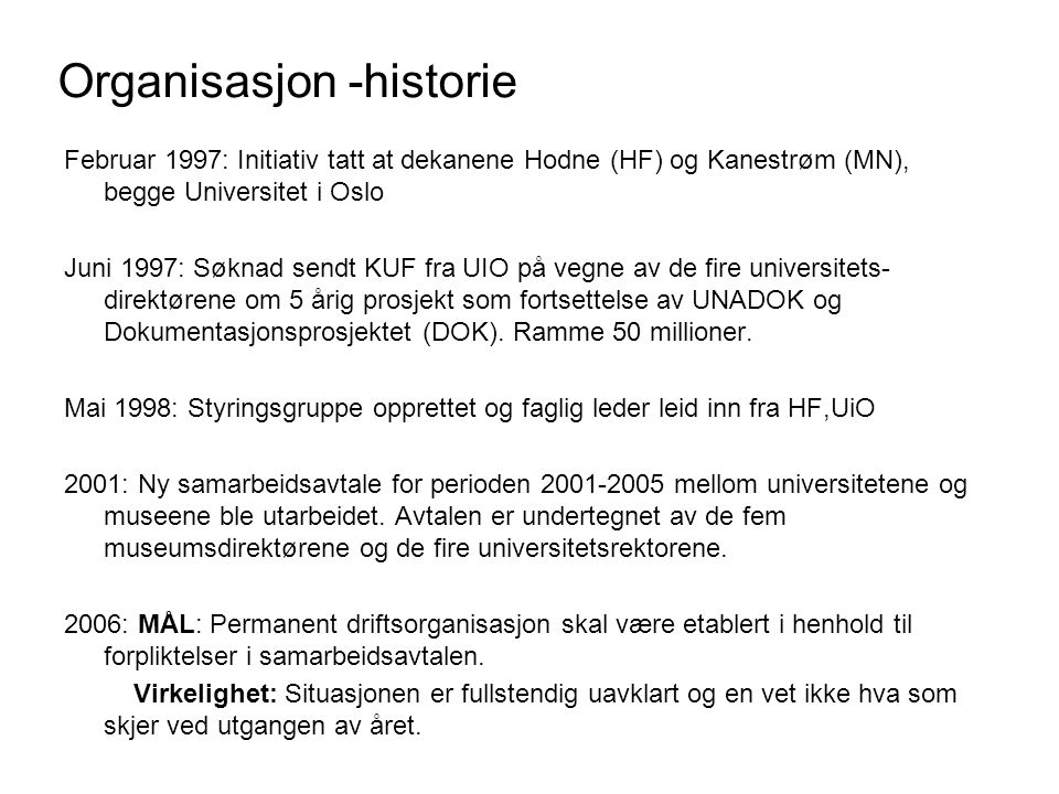 Finansiering MDKUF/UFD/KDUniv.
