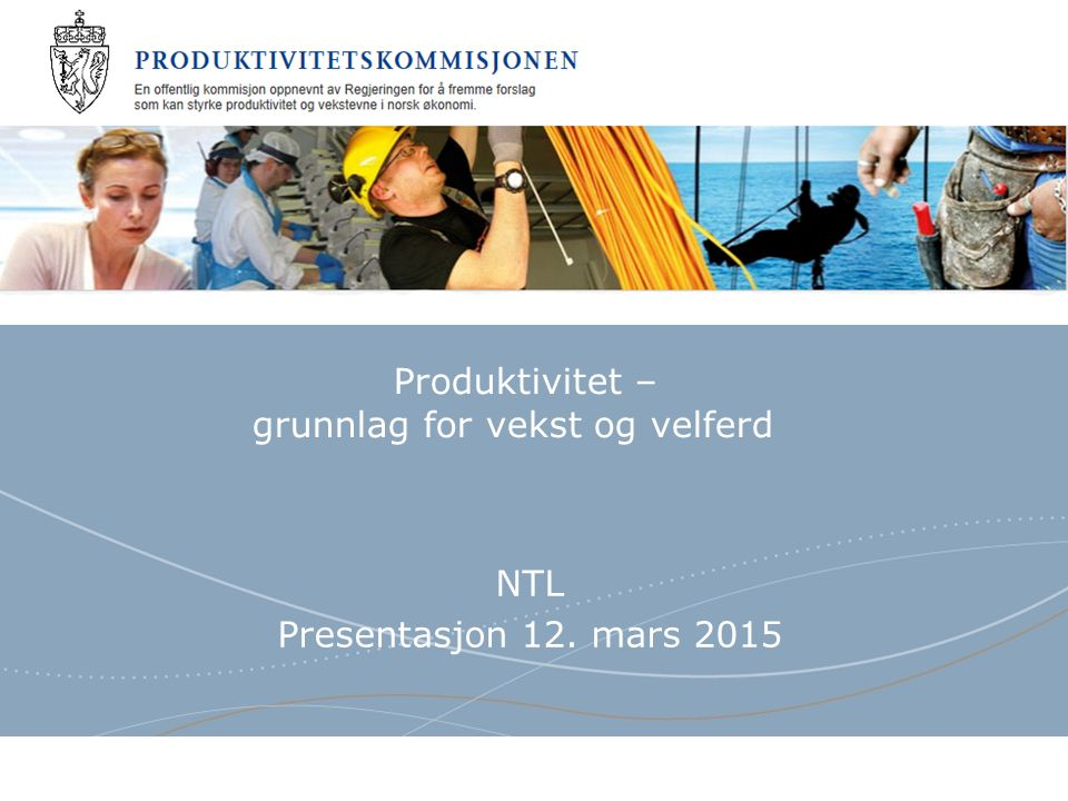 Produktivitetskommisjonen Store forskjeller i tjenestetilbudet i kommunene Korrigert inntekt og produksjonsindeks.