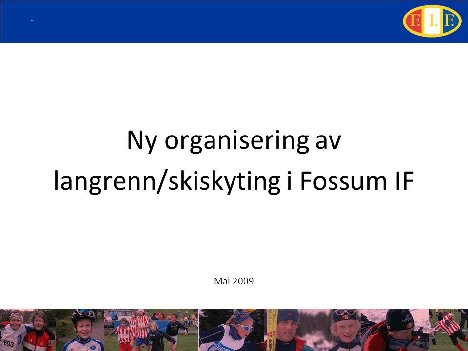 . Ny organisering av langrenn/skiskyting i Fossum IF Mai 2009