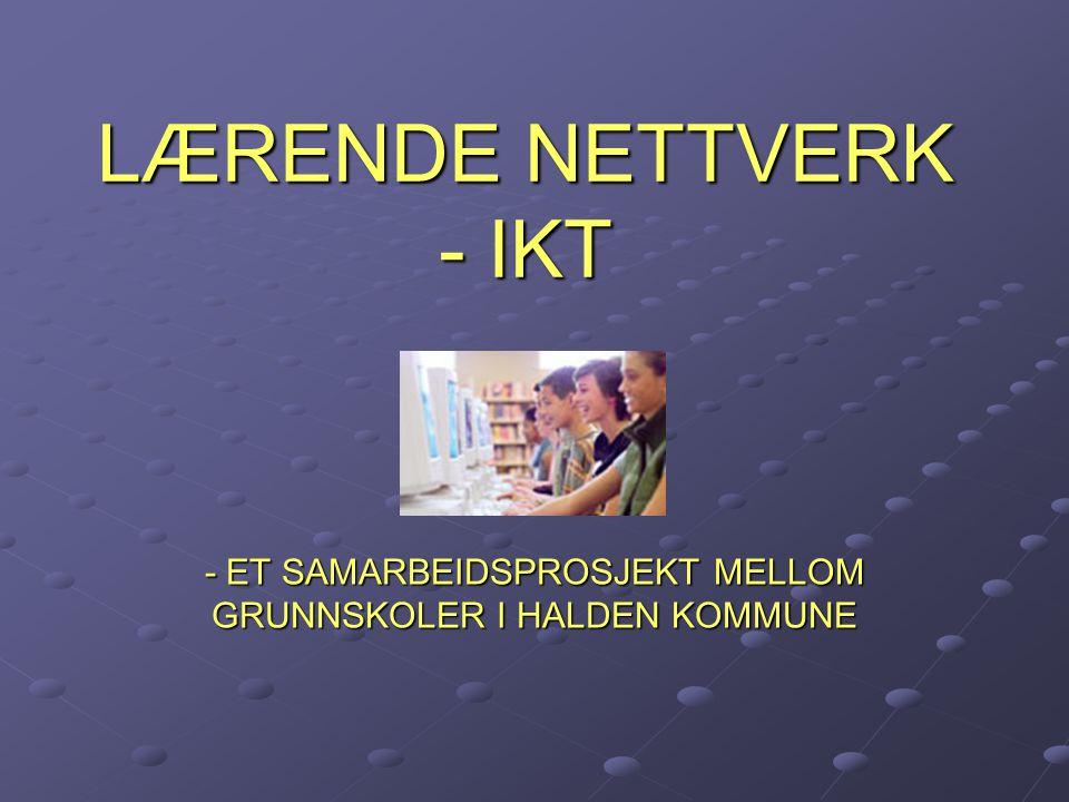 LÆRENDE NETTVERK - IKT - ET SAMARBEIDSPROSJEKT MELLOM GRUNNSKOLER I HALDEN KOMMUNE