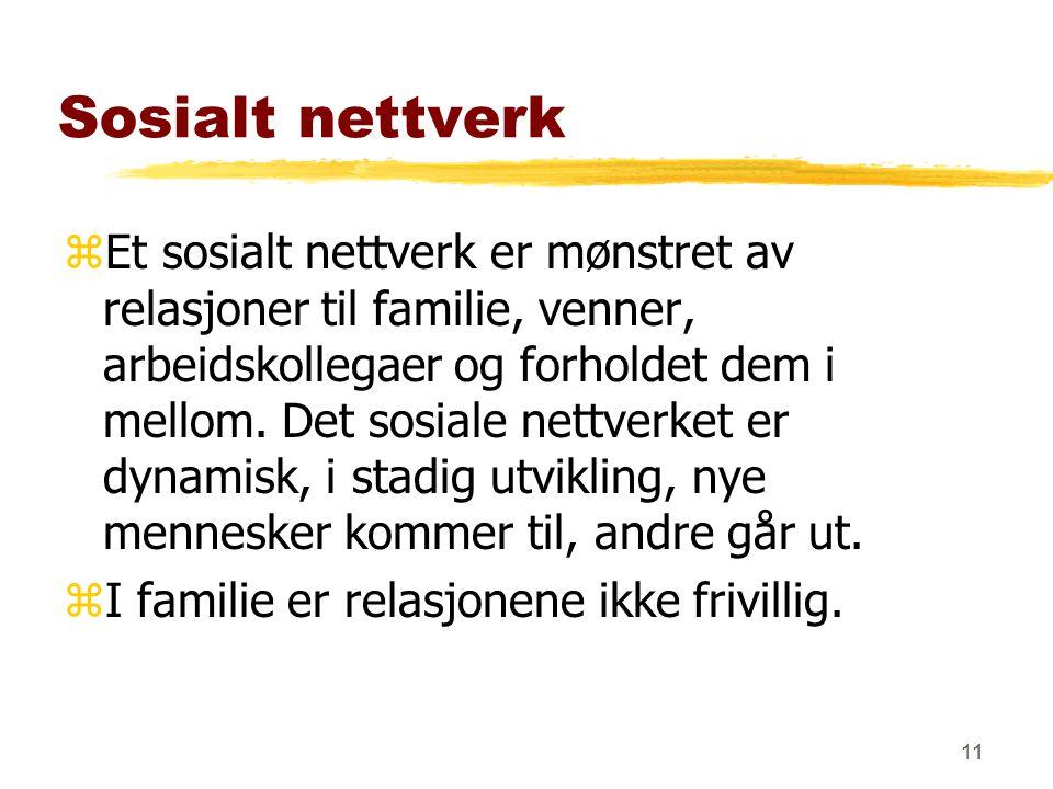 10 zSosialantropologi/nettverk zSosialt nettverk iflg.