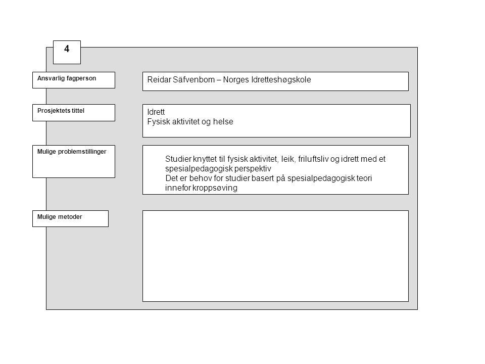 Prosjektets tittel Mulige problemstillinger Ansvarlig fagperson Mulige metoder Ulike tema i tilknytning til hørselsfeltet.