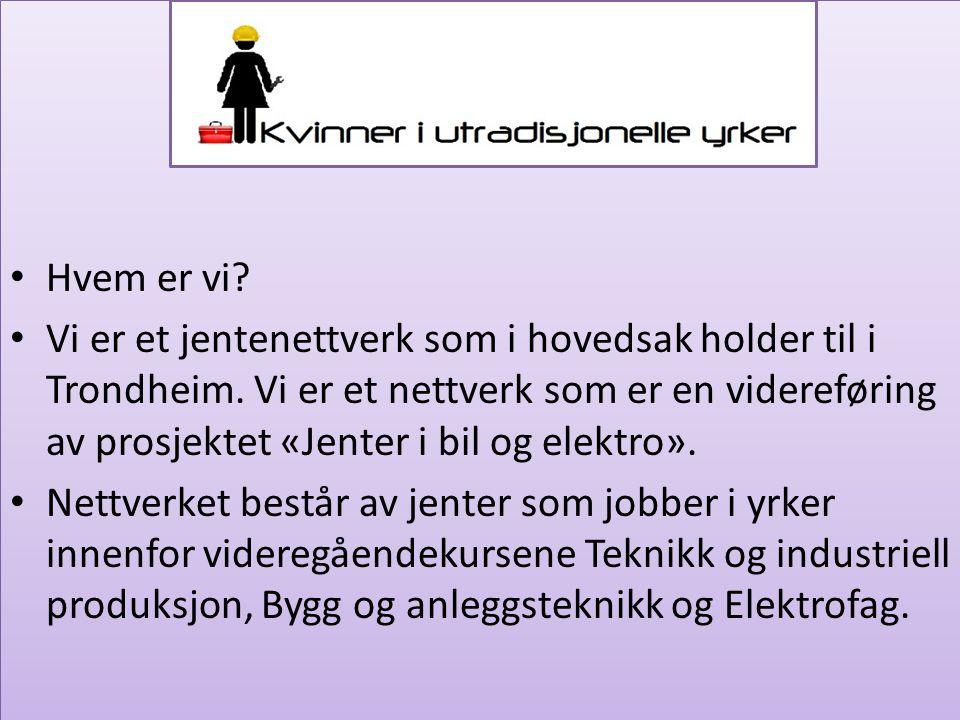 Hvem er vi. Vi er et jentenettverk som i hovedsak holder til i Trondheim.