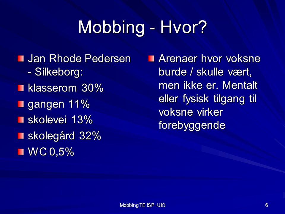 Mobbing TE ISP -UIO 6 Mobbing - Hvor.