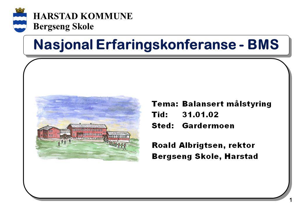 HARSTAD KOMMUNE Bergseng Skole 1 Nasjonal Erfaringskonferanse - BMS
