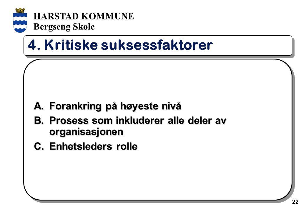 HARSTAD KOMMUNE Bergseng Skole 22 4.