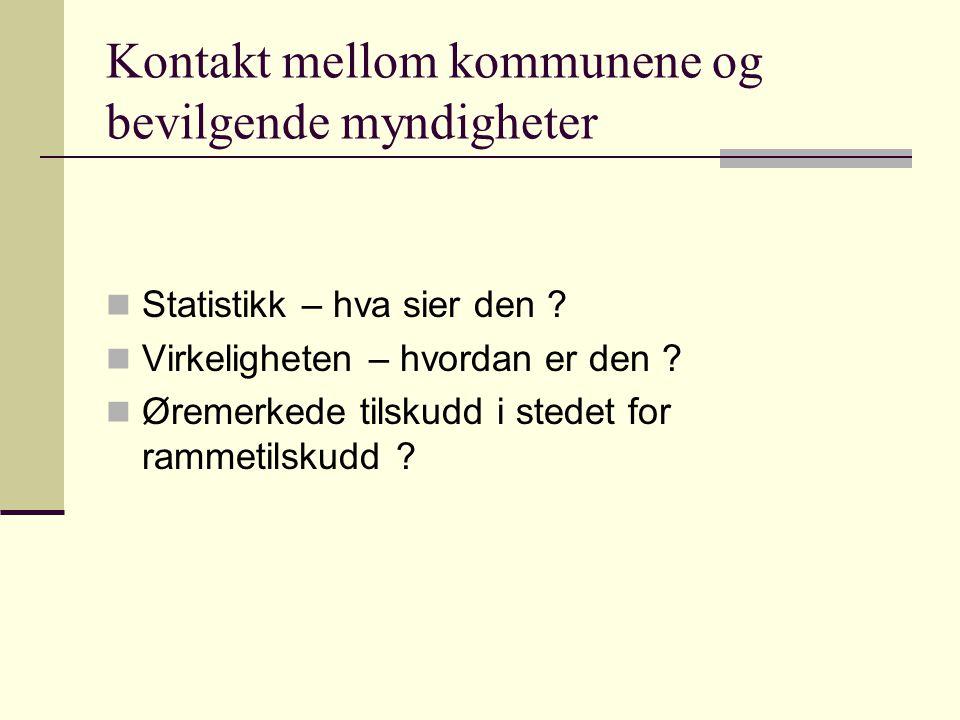 Kontakt mellom kommunene og bevilgende myndigheter Statistikk – hva sier den .