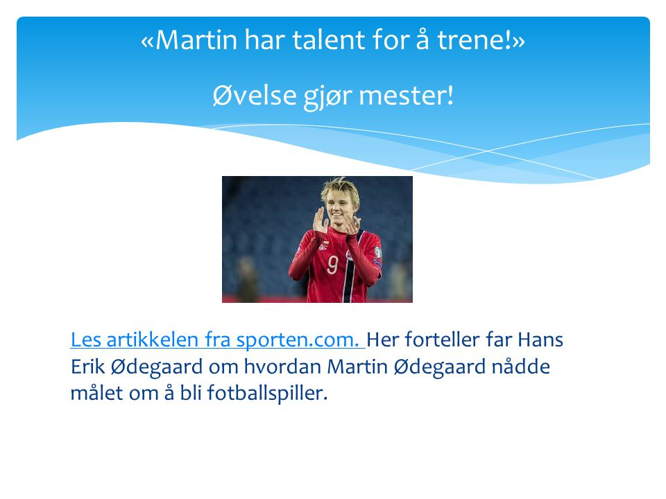 Les artikkelen fra sporten.com.Les artikkelen fra sporten.com.