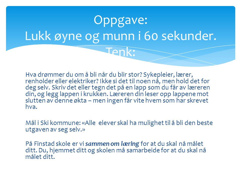 To skoler i Ski – 1913 0g 2014.