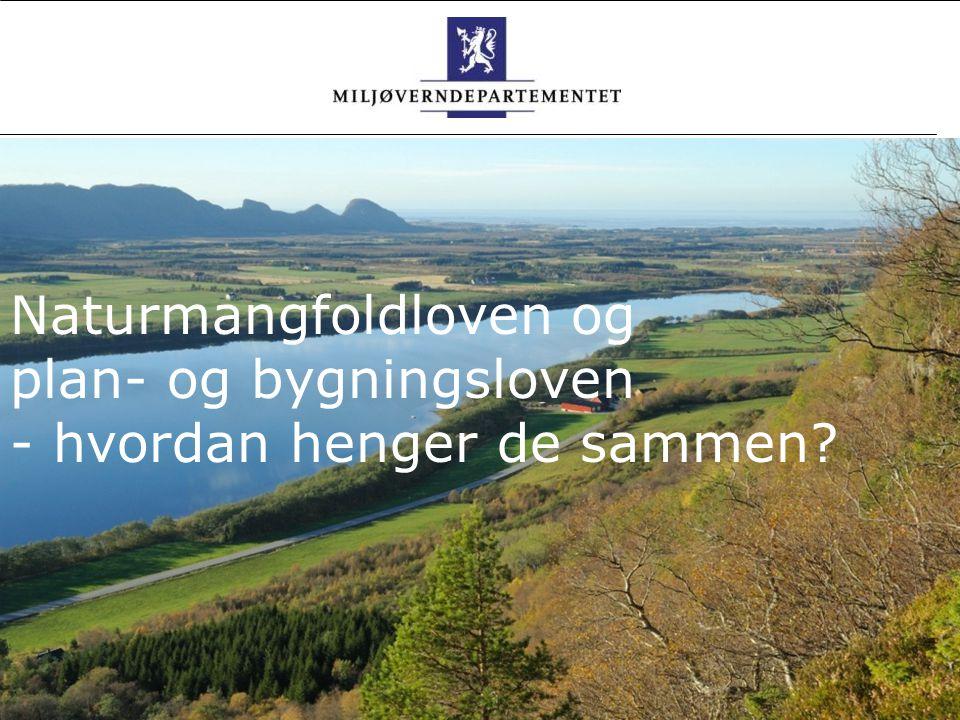 Foto: Marianne Gjørv Naturmangfoldloven og plan- og bygningsloven i samvirke Avdelingsdirektør Torbjørn Lange, Gardermoen, 12.01.2010 Foto Naturmangfo