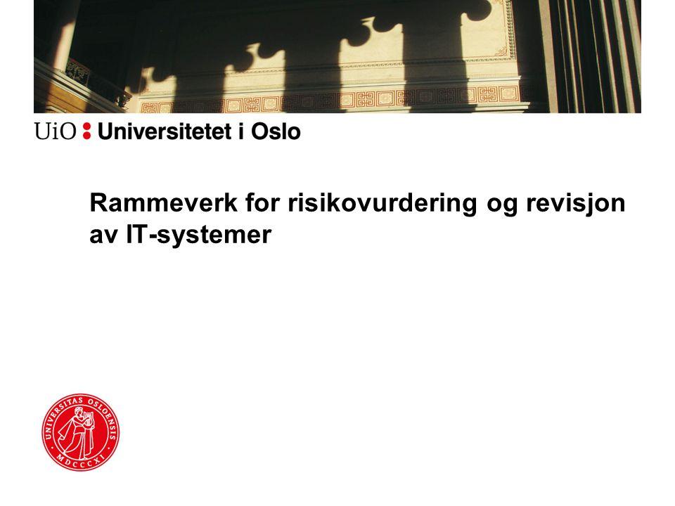 Rammeverk for risikovurdering og revisjon av IT-systemer