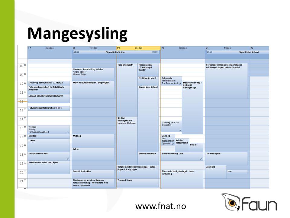 Mangesysling www.fnat.no