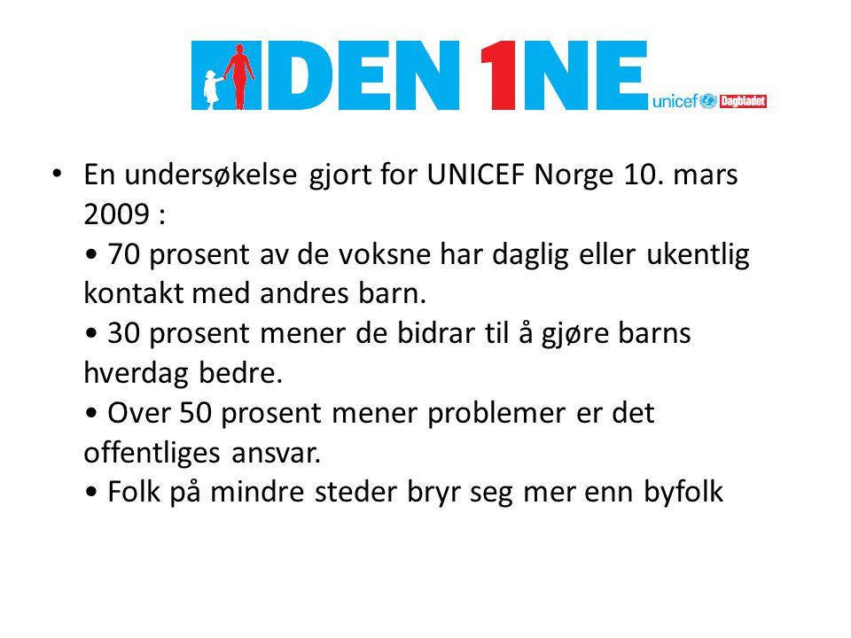 En undersøkelse gjort for UNICEF Norge 10.