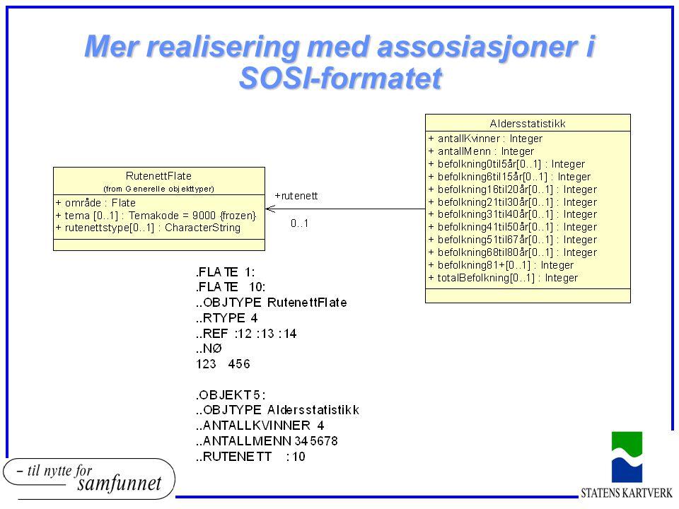 Mer realisering med assosiasjoner i SOSI-formatet