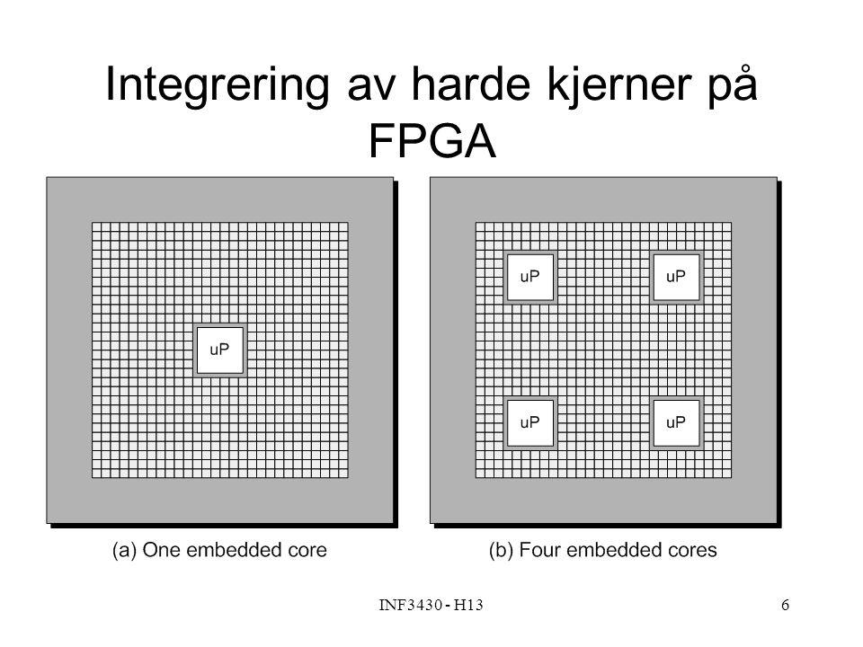 INF3430 - H136 Integrering av harde kjerner på FPGA