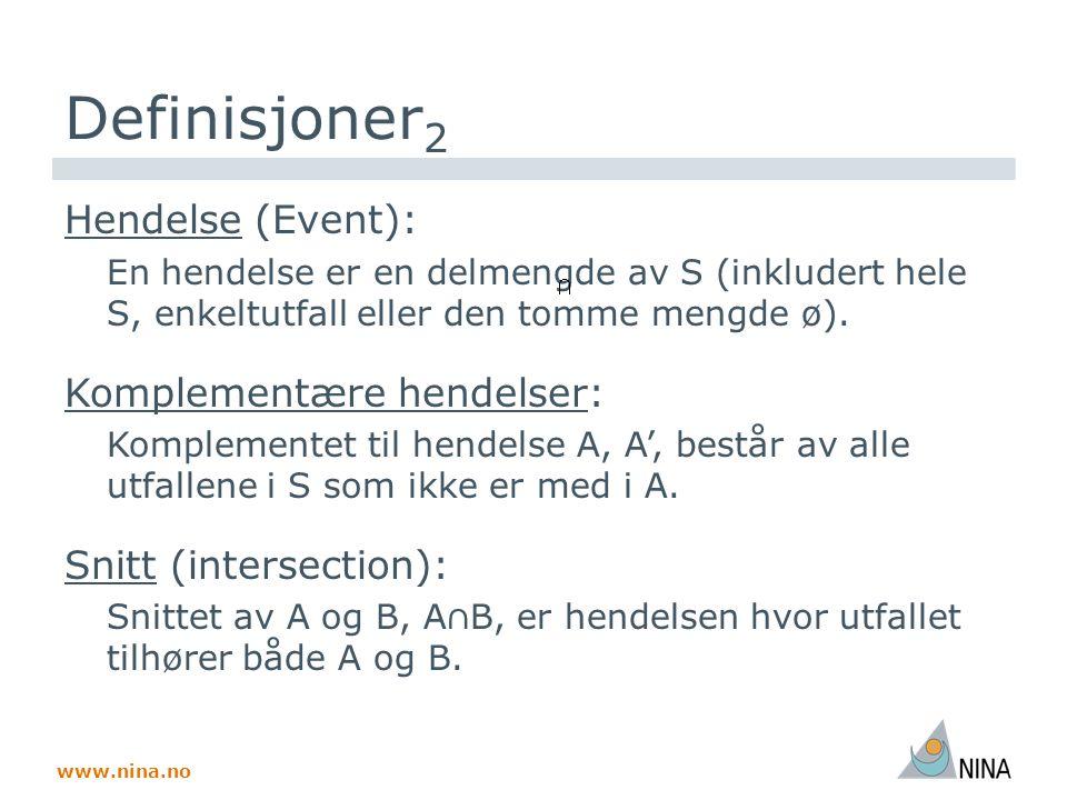 www.nina.no Definisjoner 2