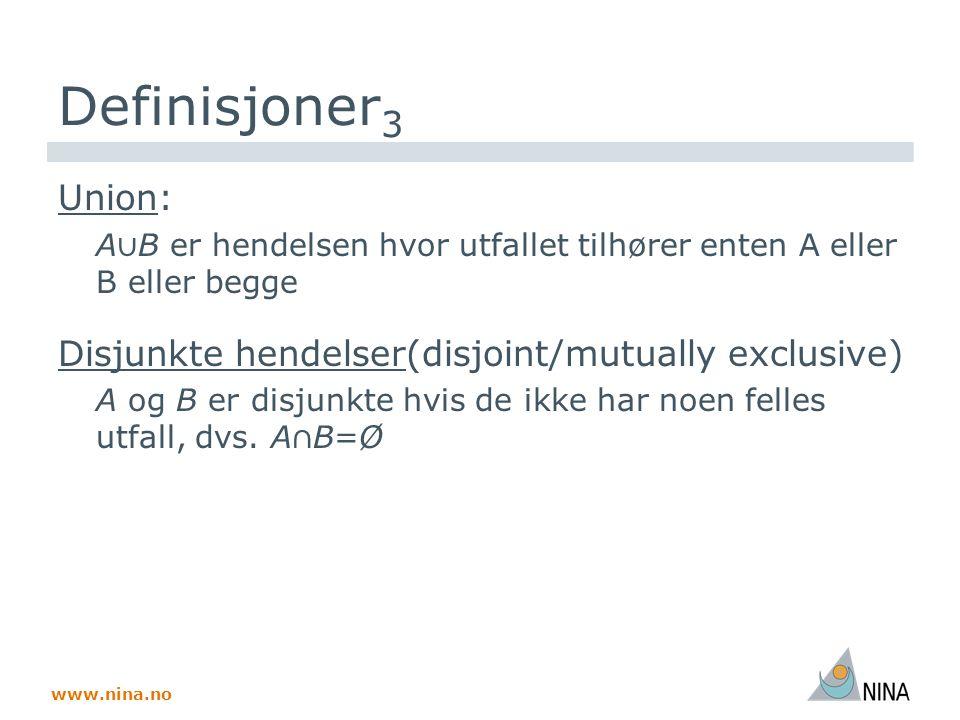 www.nina.no Sannsynlighet (ssh)