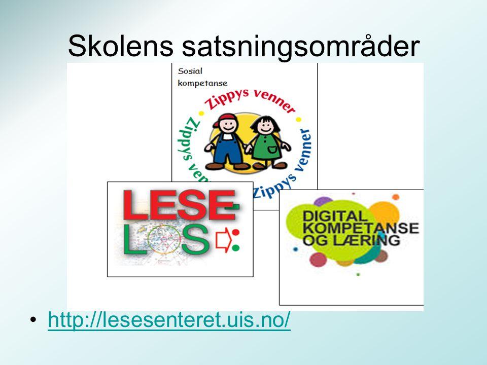 Skolens satsningsområder http://lesesenteret.uis.no/