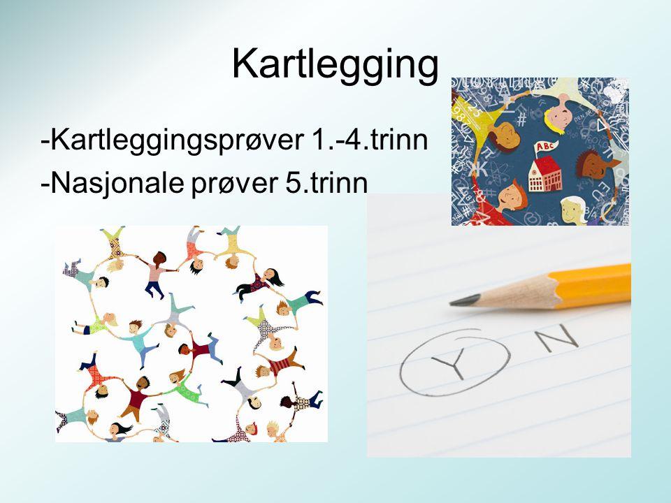 Kartlegging -Kartleggingsprøver 1.-4.trinn -Nasjonale prøver 5.trinn