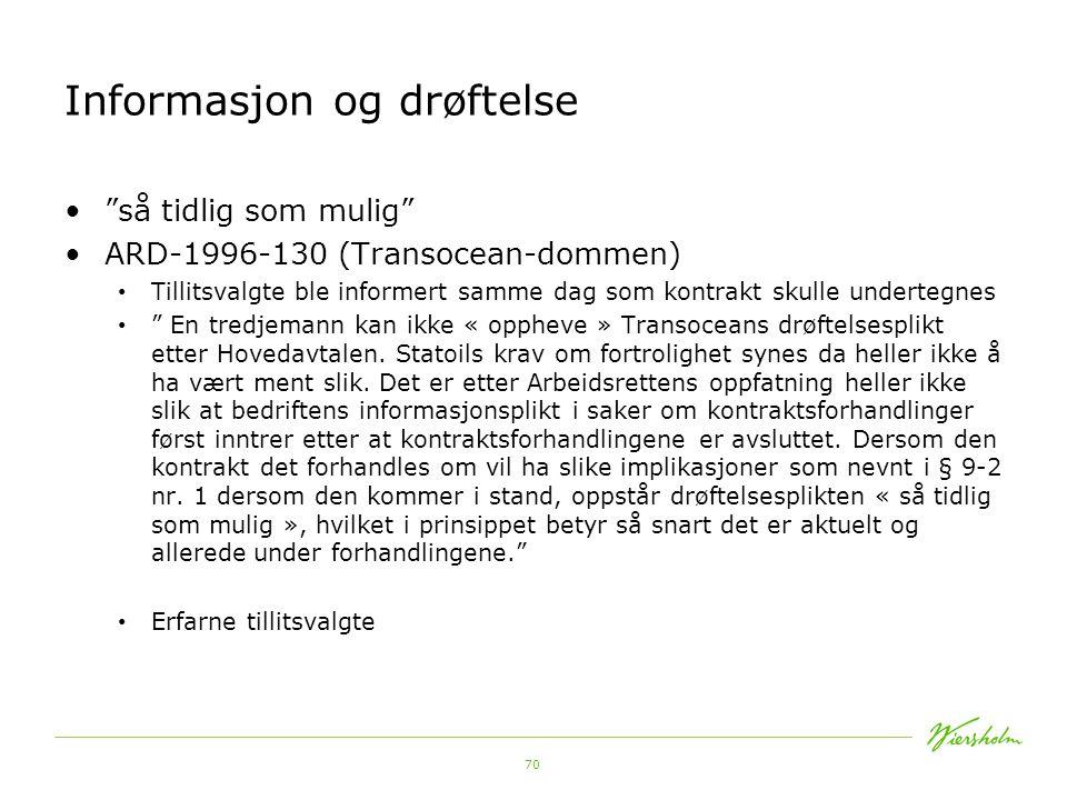 71 Informasjon og drøftelse Ot.prp.nr. 49 s.
