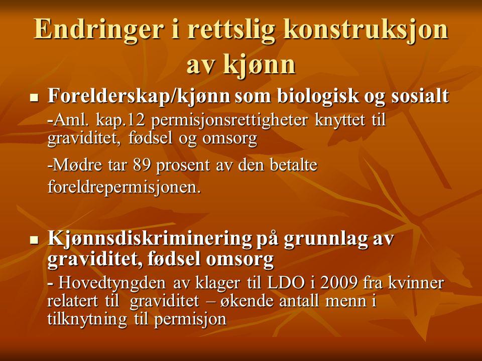 Likestillingsloven § 3, 2, 2 Graviditet, fødsel, bruk av permisjonsrettigheter likestl.
