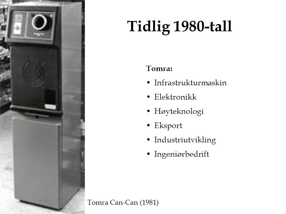 Tidlig 1980-tall Tomra: Infrastrukturmaskin Elektronikk Høyteknologi Eksport Industriutvikling Ingeniørbedrift Tomra Can-Can (1981)