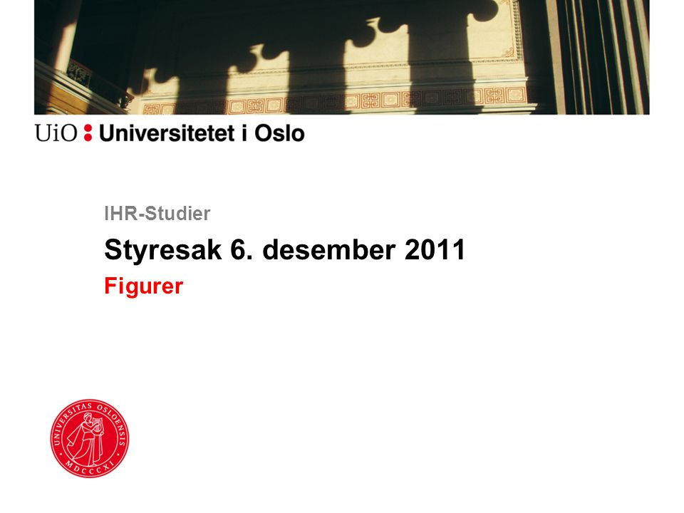 IHR-Studier Styresak 6. desember 2011 Figurer