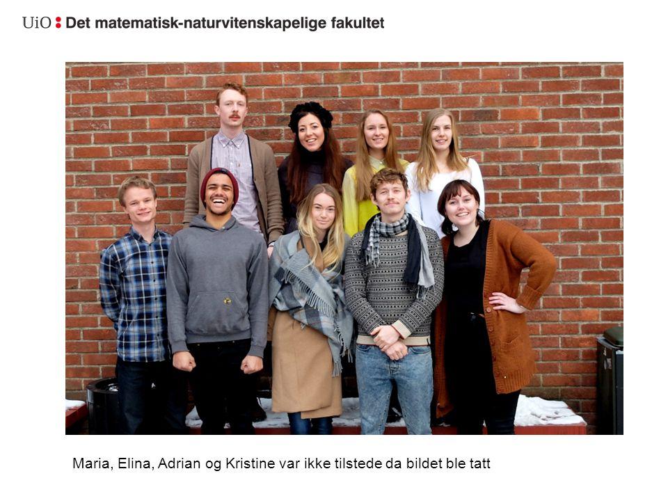 Maria, Elina, Adrian og Kristine var ikke tilstede da bildet ble tatt